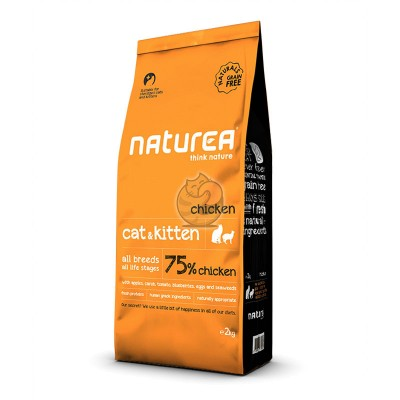 Naturea Naturals Cat & Kitten Galinha